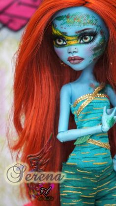 ~Serena~ Monster High Fresh Water Lagoona by RogueLively on DeviantArt Monster High House, Custom Monster High Dolls, Monster High Repaint, Custom Dolls, Ooak Dolls, Art Dolls, Ever After Dolls, Beautiful Dolls, Pretty Dolls
