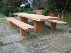 Outdoor Oak Beam Table: Oak Beam Furniture