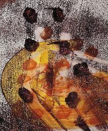 Danae (Danae Racemosa, Alexandrian Laurel) by Nolan, Sir Sidney mixed media on paper, cm, Private collection Jeffrey Smart, Sidney Nolan, Art Reference, Expressionism, Artwork, Mixed Media, Paper, Collection, Style
