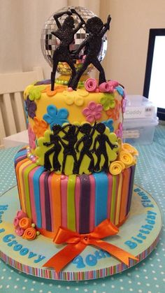Awesome 70's Disco cake by Katie's Cakes