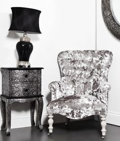Silver Console And Mirror Set Silver Crushed Velvet Chair