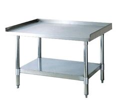 Turbo Air X X Equipment Stand with Stainless Steel Top and Galvanized Legs Undershelf and Dvd Storage Shelves, Metal Shelves, Restaurant Equipment, Kitchen Equipment, Restaurant Supply, Laundry Room Folding Table, Restaurant Furniture For Sale, Stackable Shelves, Small Restaurants