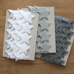 Felt+Garland++Christmas+Star++White+Gray+Black+by+littlenestbox,+$30.00