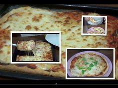 Pizza fatta in casa, rotonda classica e rettangolare al taglio - YouTube