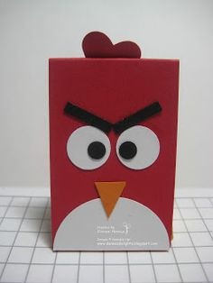angry bird nugget boxes by Danee's Stampin' Delights