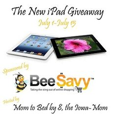 New Giveaway ...So Buzz on over and enter!  Enter to win a 3rd Generation iPad!