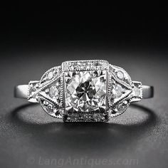 .60 Carat Art Deco Style Diamond Engagement Ring #stunningrings