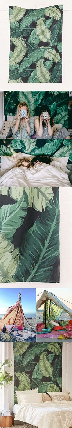 """Banana Leaf Wall Tapestry Home Decor,60""""x 80"""",Twin Size"""
