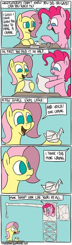 Pinkie Learns Origami by timsplosion.deviantart.com on @deviantART