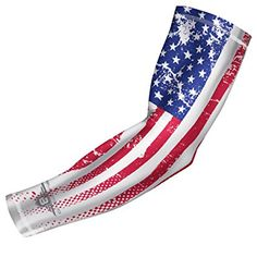 c403babf1b Amazon.com : Bucwild Sports USA Flag Compression Arm Sleeve - Youth & Adult  Sizes - Baseball Basketball Football Running Boys Girls Kids Men & Women ...