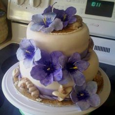Bridal Shower Cake for Hawaiian Wedding