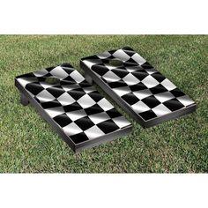 Victory Tailgate Checkered Flag Tournament Cornhole Set - 8096