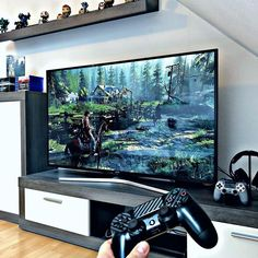 Gaming Room Setup, Pc Setup, Gaming Rooms, Gaming Desk, Playstation, Xbox, Video Game Rooms, Home Theater Design, Game Room Design