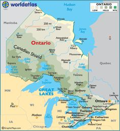 Map of Ontario | World Map > North America > Canada > Ontario > LARGE COLOR MAP