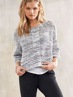 A textured knit that you can literally wear anywhere. | Victoria's Secret Sweater