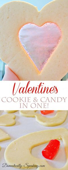 Valentine's Cookie - it's a cookie and candy in one! Jolly rancher, see through stained glass