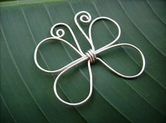 wire butterfly - would be cute with some beads wrapped into the wings!