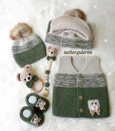 Multi Order 57 Baby Weste Cardigan Booties Strickmodelle - My CMS Baby Knitting Patterns, Baby Booties Knitting Pattern, Kids Patterns, Knitting For Kids, Knitting For Beginners, Crochet For Kids, Knitting Designs, Free Knitting, Cardigan