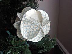 Sew Fantastic: DIY Christmas Ornament using scrapbook paper :)