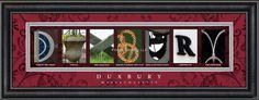 Duxbury, MA. Framed Letter Art