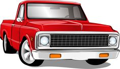 Cars Toons, Arte Cholo, Car Vector, Truck Art, Classic Chevy Trucks, Square Body, Chevy C10, Cool Drawings, Dollar Stores