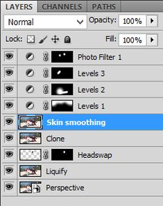I've written a great deal in the past about non-destructive editing, and its importance for a sensible Photoshop workflow. In essence, all adjustment layers go on top, and pixel layers at the bottom.