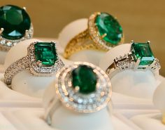 Beautiful Emerald gemstone embedded with emerald stone stud-earrings add more class to your attire @  emerald.org.in Emerald Jewelry, Emerald Rings, Bee Necklace, Emerald Stone, Birthstones, Emeralds, Stud Earrings, Gemstones, Pendant
