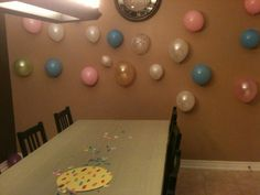 Baby shower wall deco