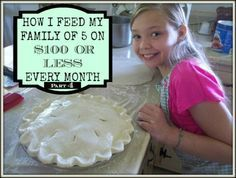 Learn how to S-T-R-E-T-C-H your grocery budget in part 4 of this series.  I show you how I feed my family of 5 for $100 or LESS every month!  That's $25 a  week.