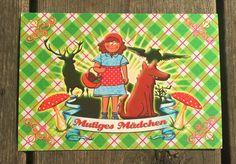 Postkarte für Rotkäppchen
