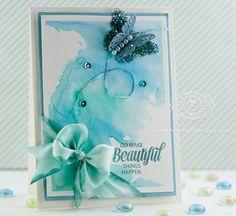 watercolor card by Becca Feeken