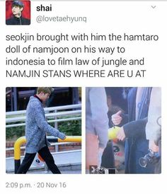 I WILL FIGHT YOU IF YOU TELL ME NAMJIN ISN'T REAL.