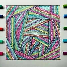 Doodle art - Likes, 54 Comments Mandalas, Zentangles, Doodles ( meli art) on Ins – Doodle art Doodle Art Drawing, Zentangle Drawings, Mandala Drawing, Zentangle Patterns, Art Drawings Sketches, Painting & Drawing, Drawing Flowers, Drawing Ideas, Doodles Zentangles