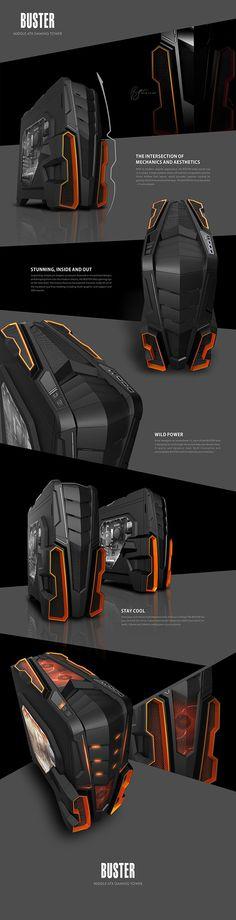 PC case design - Midi ATX TowerGaming series