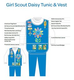 Girl Scout Daisy Tunic & Vest Insignia Placement