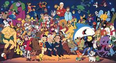 I just had to mention The Flintstones. =) And rather than post a bunch, here's Jabberjaw, Hong Kong Phooey, Space Ghost Coast to Coast, The Jetsons, Yogi Bear, Scooby Doo, and the rest of the Hanna Barbera cartoons that I used to watch on Cartoon Network.