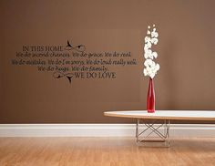 vinyl wall decal quote In this home we do by WallDecalsAndQuotes, $44.95