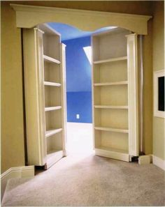 bookshelf for doors to secret room