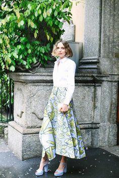 fab Marni skirt. #CandelaNovembre in Milan.