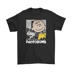 Selfie Photobomb Charlie Brown And Snoopy Shirts