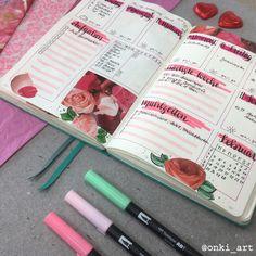 #bulletjournal #wochenübersicht #weeklyspread #valentines #valentinesdaydecorations