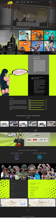 #webdesign #website #creativewebdesign #comicswebsite #funwebsite #stronywww #projektowaniestronwww
