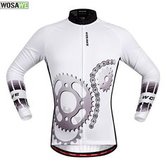 2017 WOSAWE Men's Cycling Jersey Long Sleeve Outdoor Sports Bicycle Cycle MTB Bike Clothing Quick Dry Shirt Riding Clothes #Affiliate