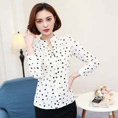 Women's Blouses New Arrivals 2017 Spring Summer Women Shirts Regular Collar White Fashion Long Sleeve Womens Shirts With Sleeves