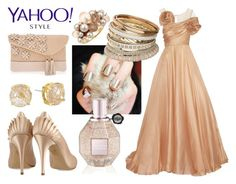 """""""Yahoo Met Gala Outfit"""" by deedee-pekarik ❤ liked on Polyvore featuring Marchesa, Charlotte Olympia, Henri Bendel, Vince Camuto, Miss Selfridge, contestentry and yahoostyle"""