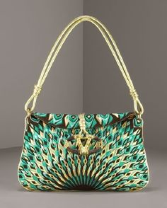 Valentino Peacock Bag~ I know my daughter would LOVE this. (Or something that LOOKS like this, that I won't have to sell my house to get her!)