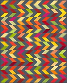 Charming Chevrons designed by Christa Quilts. Features #konacotton. #rkjuly15 #konadesignerseries
