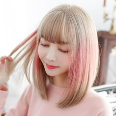 In the world of hair, there are many hairstyles that can be worn by a wide variety of hair types. Those who have long, curly hair can really try out some interesting styles with their beautiful loc… Long Curly Hair, Curly Hair Styles, Short Hair, Pubic Hair Removal, Pastel Gradient, Color Rubio, Short Bob Wigs, Wigs With Bangs, Hair Transplant