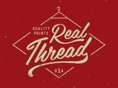 Real Threads print logo