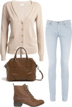 Sarah inspired for school by ashleyglass featuring skinny leg jeansKenneth Cole Reaction long sleeve knit shirt, $175 / Citizens of Humanity skinny leg jeans, $380 / Madison Harding kitten heels